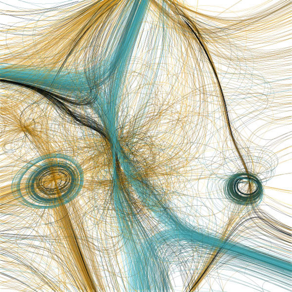 Path, 'series of prints that document the movement of synthetic neural systems', Casey Reas