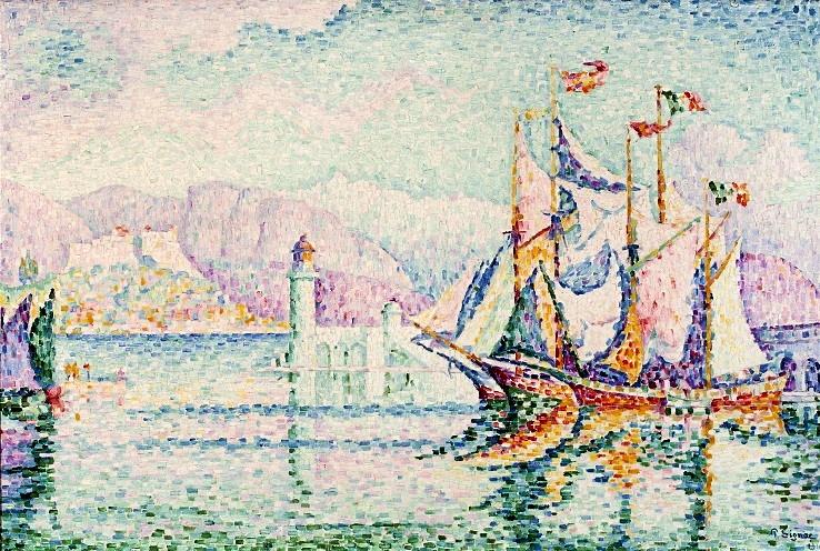 Paul Signac:Antibes - Matin, 1914